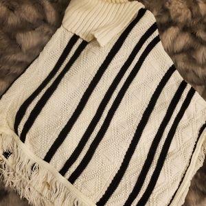 Black & White Poncho